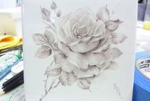 come dipingere le rose olio molle