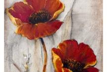 yağlı boya (çiçekler)