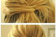 medium length hair ups
