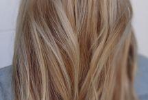 blond włosy, fryzury