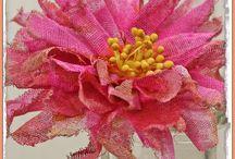 kvety papierové látkové