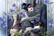 Arte - Aves e Pássaros / by Atelier EllesSpinardi
