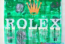 Quadri moderni Rolex / Quadri per arredamento moderno con logo Rolex