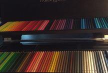 Supplies! / Mijn potloden, pennen, pastels ed