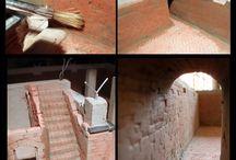 fabrication  crèche et maisons