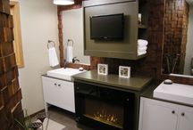 Possibilities and Products / A board that focuses on spaces that would look great with a fireplace. We have posted pictures of the different electric fireplaces we offer and some examples of how people have used them.
