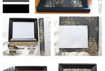 renew old picture frames / by Michelle Silva
