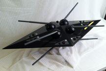 Handbuilt sci-fi models