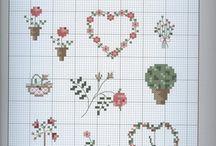 Cross stitch patterns - backgrounds