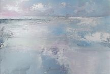 Tracey Ross Artwork / Abstract paintings inspired by the North Norfolk coast.