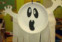 Fantôme assiette en carton