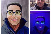 Живопись_ПОРТРЕТЫ/Art_Portraits / Портреты, которые светятся ночью или при свете флуоресцентной лампы. Portraits that glow at night or under fluorescent light bulb.
