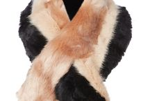 fashion - fur scarf