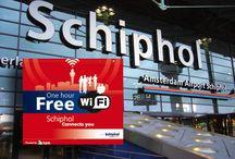 Gratis WiFi op Schiphol Airport