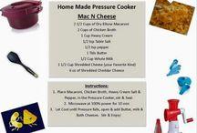 Tupperware pressure cooking / Recipes for the Tupperware pressure cooker