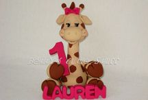 CAKE TOPPERS / Polymer clay Cake Toppers / by Betty Escobar