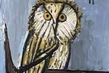 Bernard Buffet owls&skulls
