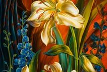 Pintura em tela de Flores / Arte / by Samantha Honda