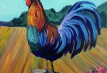 Rooster canvas