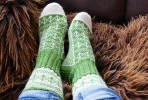 Hjemmestrikkede sokker / Sokker jeg har strikket selv.