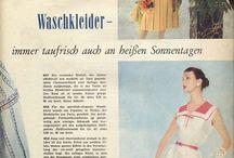 1957 BURDA magazne! / 1950s fashion galore