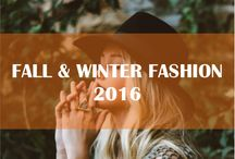 Fall & Winter Fashion 2016 / Women's fashion style for the coming fall and winter 2016, including: handbags, shoes, sweaters, scarves, shawls, pants, shirts, dresses, belts, etc.