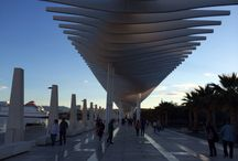 Malaga / Walkway by the harbour