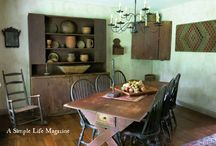 ~Primitive Dining Rooms~ / ~These are some images of wonderful primitive dining rooms~