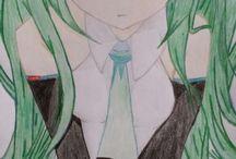 Selbstgemalte Manga-/Animefiguren (von mir gemalt)