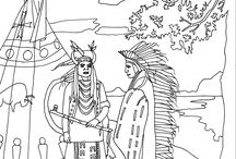 Native Americans coloring pages / Travel in Native Americans history with our many coloring pages. See more --> http://www.coloring-pages-adults.com/native-americans-indians/