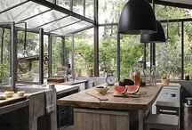 Rustic Modern kitchen//