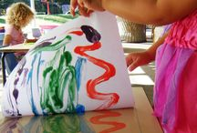 Preschool Painting/Messy Ideas / Rolling, Stamping, Printing with various mediums with paint. / by Patricia Ispas