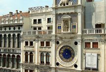 Torre dell'Orologio / The Clock Tower in Venice is an early renaissance building on the north side of the Piazza San Marco at the entrance to the Merceria.