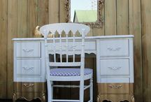 Gold dipped dressing table