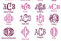 monogram / by Ashley Pinterest