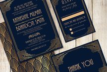 Wedding Stationery / Here's are some ideas for the navy and gold theme