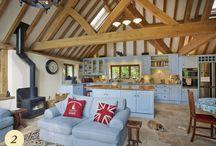 Oak framed kitchen extension / Traditional oak timber framed kitchens