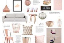 Rose gold & marble home design