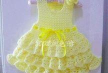vestido niña amarillo-crochet