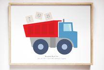 Red & Blue Boys Nursery Decor Inspiration