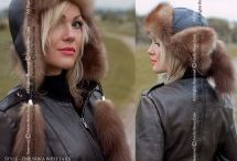 Women's winter hats - Fur collars for Ladies