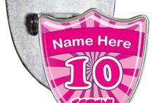 Shield Birthday Badges
