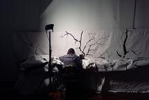 If, de Pascal Haudressy (montage) / If, de Pascal Haudressy, installation mêlant tapisserie, vidéo et sculpture : récit-photo de 24 heures de montage à Aubusson.