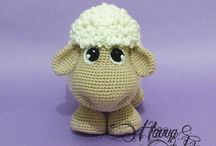 Crochet Cow, Pigg, Sheep