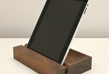 Drewno - podstawki pod telefon i iPad