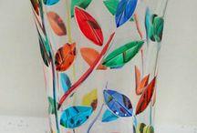 Vaze decorate / tot felul de vaze decorate cu pictura, margele si bricolaj