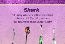 Share your #SharkStory! / Do you swoon for your Shark products? We want to know! Share with us why you love your Shark with your #SharkStory for the chance to win one of four Shark products! Details: http://ow.ly/tKB7s / by Shark Cleaning