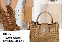 Marlafiji   Kelly Taupe Croc Embossed Italian Leather Handbag / Can't go wrong with neutral.. perfect for work, perfect for going to a job interview perfect for meeting the girls... perfect for every occasion.. MATCH WITH KELLY TAUPE CROC EMBOSSED ITALIAN LEATHER HANDBAG