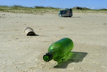 Garbage in sea