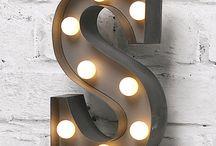 bokstaver med lys